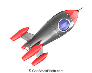 rocket - 3d illustration of space rocket cartoon style,...
