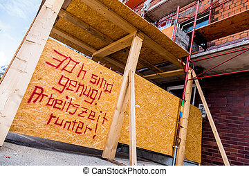 thirty hours of work - at a construction site is a sign of...