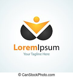 Life focus leader innovator golden man icon simple elements...