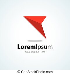 Only way forward red arrow business concept elements icon...