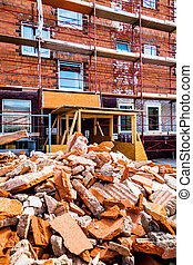 construction debris at construction site - construction...