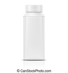 Small white rounded container Packaging collection Vector...