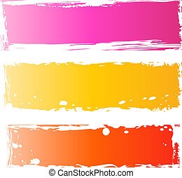 Pretty grungy banners multicolored - Three pretty grunge...