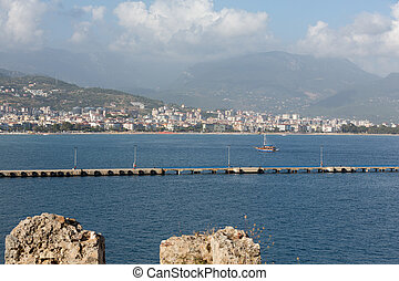 Alanya - the beach of Aladdin Alanya is one of most popular...