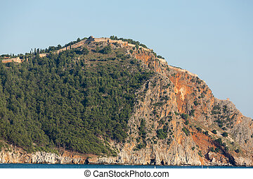 Alanya - The castle in Alanya built on the hill above the...