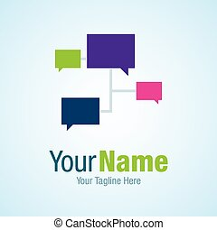 Networking ideas chat graphic design logo icon