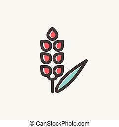 Beans thin line icon - Beans icon thin line for web and...