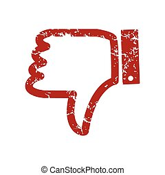 Red grunge unlike logo on a white background. Vector...