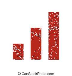 Red grunge graph logo