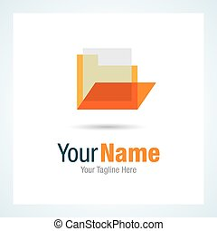 File folder documents graphic design logo icon