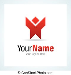 Corporate vision red inspiration graphic design logo icon