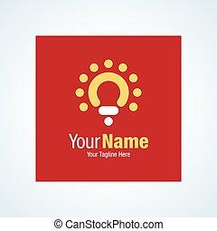 Red light bulb idea symbol graphic design logo icon