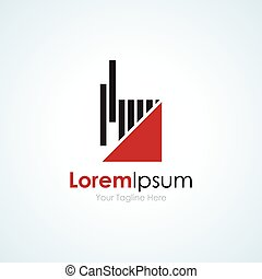 Beat the odds progress simple business icon logo