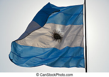 Argentinean Flag - Argentinean flag waves in the wind...