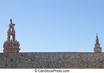 Mudejar towers - Towers of San Miguel and San Bartolome from...