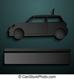 Abstract sign of automobile for sale Simple illustration...