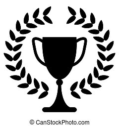 trophy cup or award for the winner of a championship, challenge
