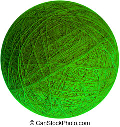 Ball of yarn - Clear bright image of ball of yarn