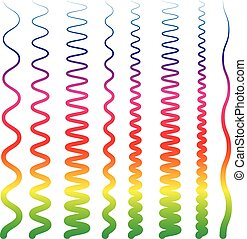 Colorful, abstract line elements with distortions. Smooth,...