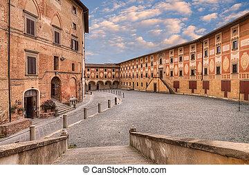 Ancient seminary in San Miniato, Tuscany, Italy - Old...