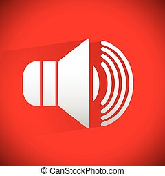 Speaker icon for volume, loudness or alarm concepts. Vector...