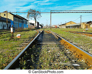 Old turnouts on the railway train station. Its function is...