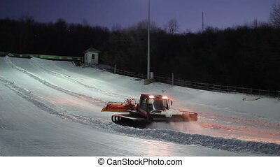 Preparation of the track for tubing.