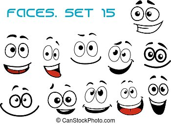 Cartoon laughing faces with googly eyes - Laughing and...