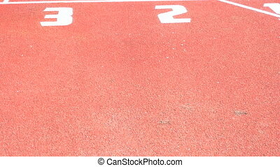 Running track with lanes ,