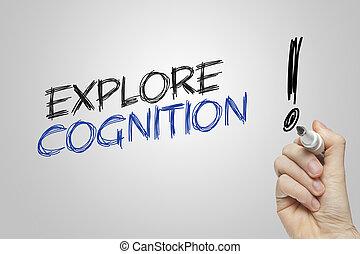 mão, escrita, explorar, cognição,
