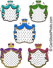 Colorful ceremonial royal mantles and crowns - Colorful...