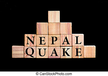 WordS NEPAL QUAKE isolated on black background - WordS NEPAL...