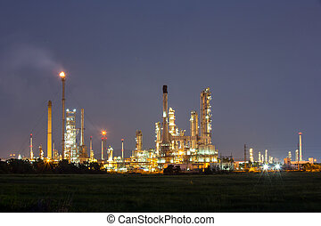 aceite, refinería, fábrica,