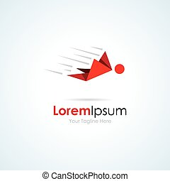 Human abstract flying fast simple business icon logo