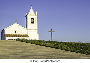 Church in Luz New Village, built in 2002 on a site selected...