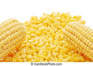 Ear of fresh corn and tinned corn - Ears of fresh corn and...