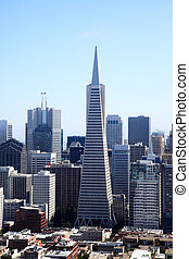 The San Francisco skylines in California USA