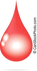 red blood water drop