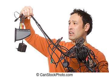 Man with cables