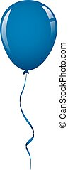 dark blue balloon ribbon