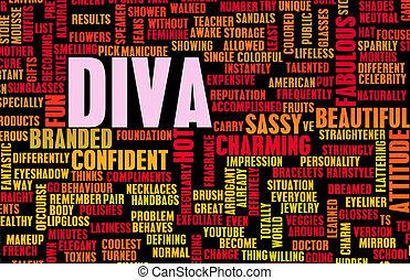 Diva Crazy Attitude as a Art Concept