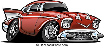 Classic American Hot Rod Cartoon Il - Classic American...