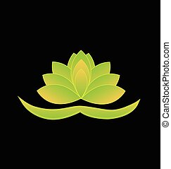 Lotus flower chinese symbol logo