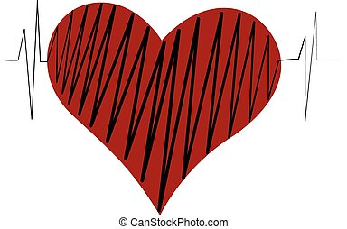 Heart of love logo