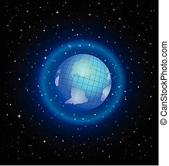 World globe internet concept vector - World globe internet...