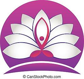 Yoga man lotus wh