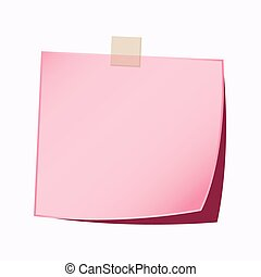 paper note pink color