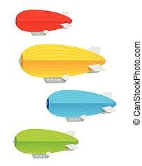 Vector. Airship colorful set