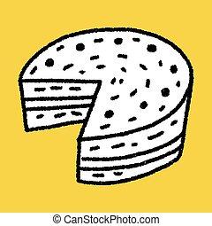 Doodle, taart,