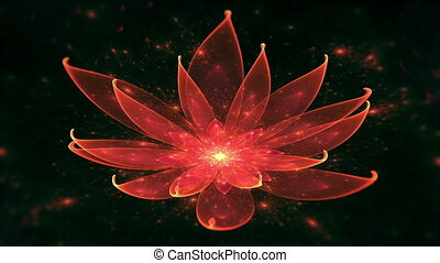 Lotus Water Lily, Enlightenment or - Space flower, Lotus,...
